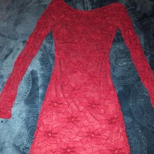 Red lace dress ❤️
